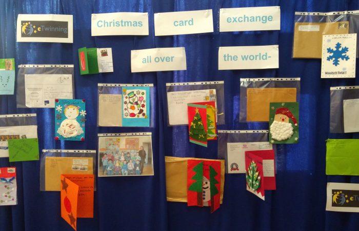 """Międzynarodowa współpraca wramach  projektu """"Christmas all over the world – card exchange"""" –podsumowanie."""