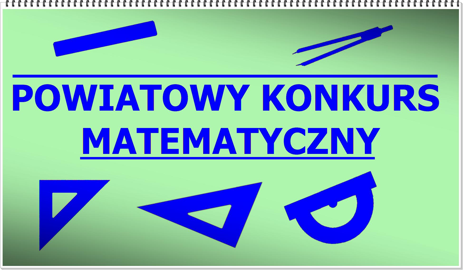 Powiatowy Konkurs Matematyczny – regulamin