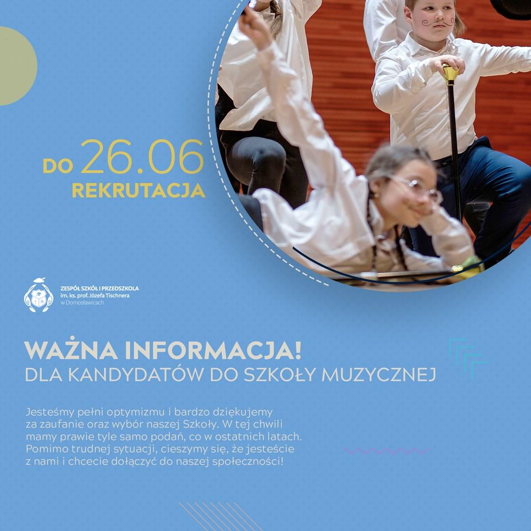 Uwaga!!! Przedłużamy rekrutację doSzkoły Muzycznej zfilią wPorąbce Uszewskiej ????