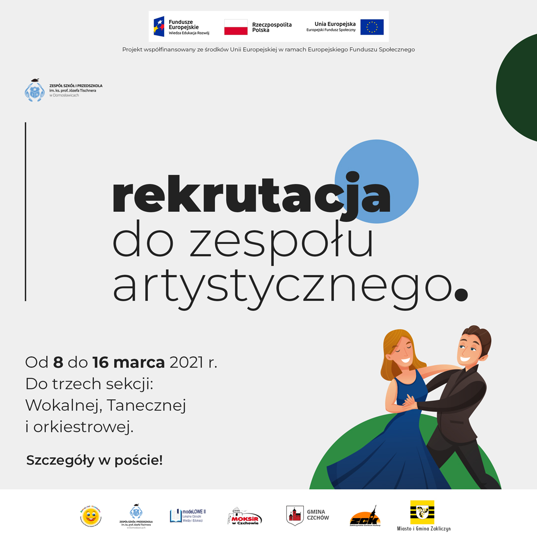 Trwa nabór doZespołu Pieśni iTańca przy Szkole Muzycznej wDomosławicach!!!